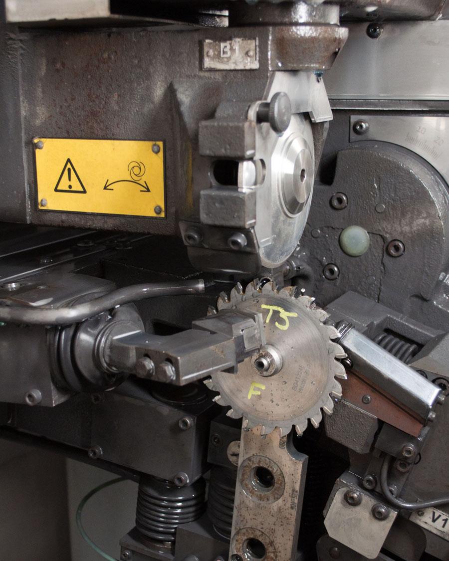 CNC Saw Sharpener Inside